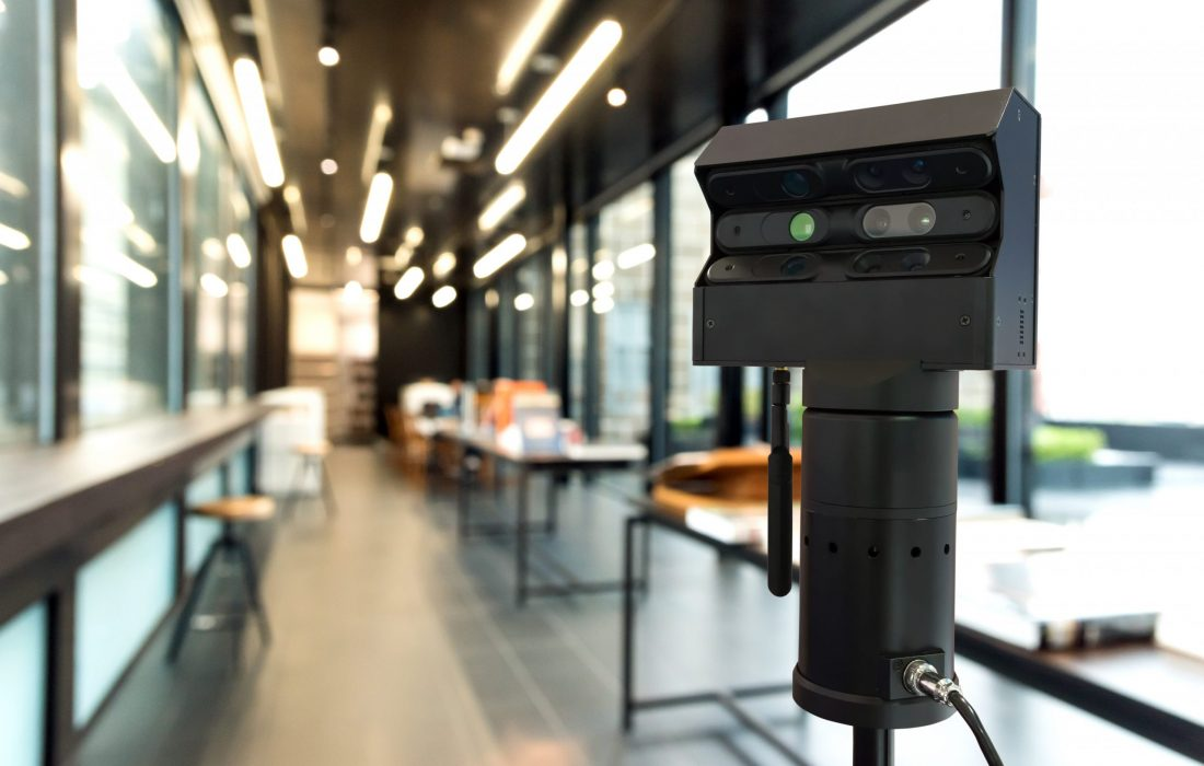 Standalone 3D camera scanner for visual reality and augmented reality technology.  Scan real spaces and create highly immersive 3D models , architecture room , interior and building.